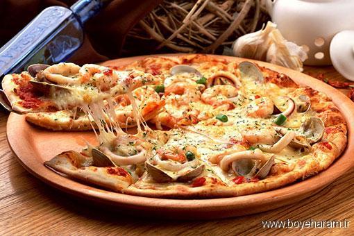 آشپزی,آموزش آشپزی,سایت آموزش آشپزی,آموزش طرزتهیه غذای دریایی,آموزش پیتزا دریایی