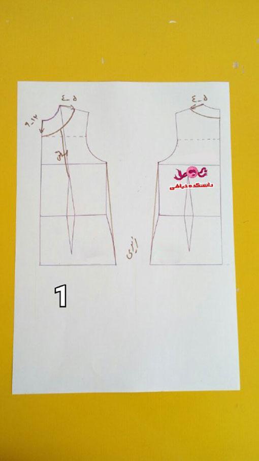 دوخت انواع لباس,دوخت لباس زنانه,آموزش تصویری دوخت شومیززنانه