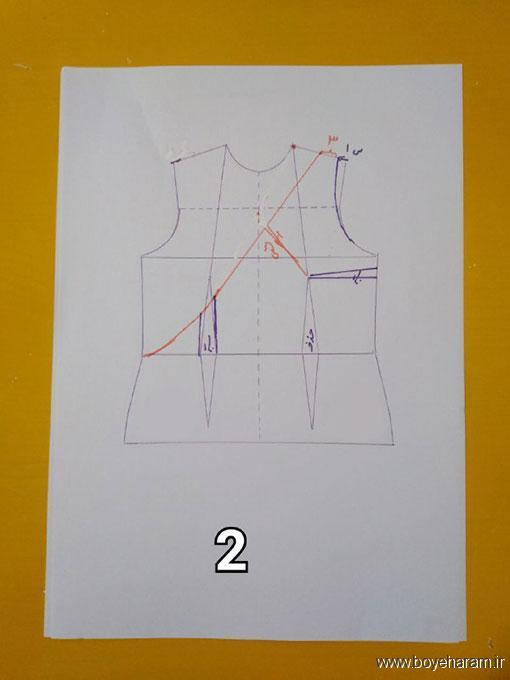 آموزش دوخت لباس مجلسی زنانه,دوخت لباس حلقه ای زنانه,لباس برش دار زنانه