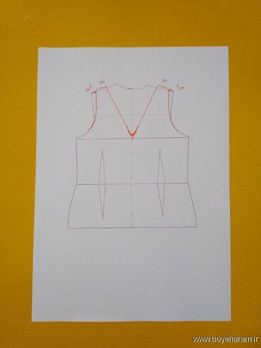 دوخت انواع لباس,دوخت لباس زنانه,آموزش تصویری دوخت لباس حلقه زنانه