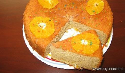 آموزش درست کردن کیک پرتقالی بدون فر,درست کردن کیک پرتقالی بدون فر,دستور درست کردن کیک پرتقالی بدون فر