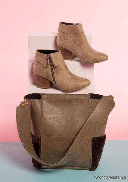 مدل ست کیف وکفش زنانه,مدل کیف و کفش پاییزی,ست کردن کیف و بوت