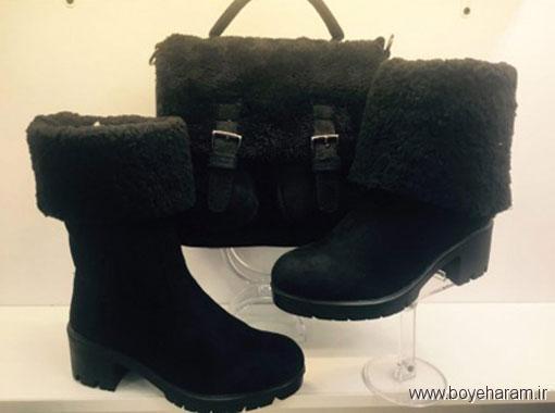 ست کردن کیف و نیم بوت,انواع ست کیف و بوت زمستانی,مدل کیف و کفش زمستانی