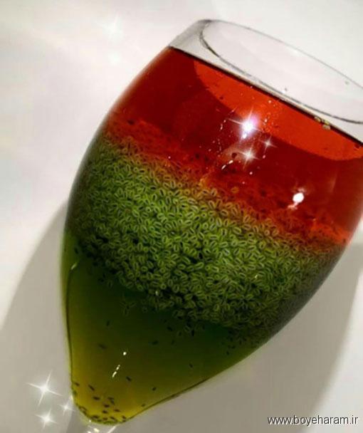طرز تهیه شربت سه رنگ,آموزش طرزتهیه شربت سه رنگ,درست کردن شربت سه رنگ