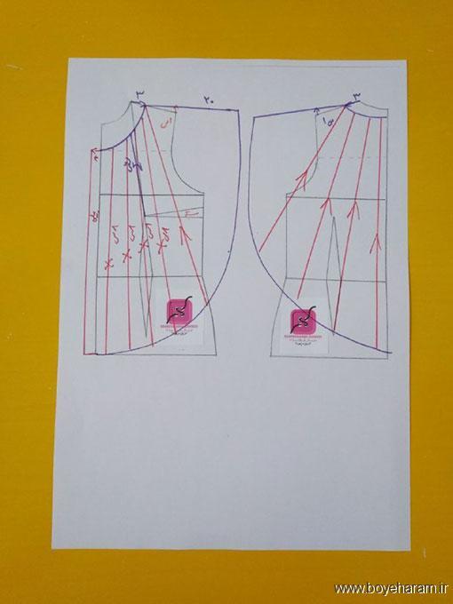 انواع لباس,دوخت لباس زنانه,آموزش تصویری دوخت لباس حلقه زنانه