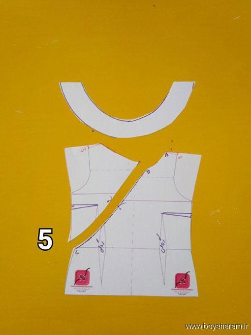 آموزش دوخت لباس مجلسی زنانه,دوخت لباس برش دار,لباس مجلسی برش دار زنانه,آموزش دوخت تاپ مجلسی زنانه