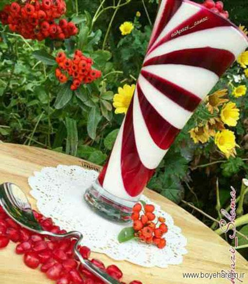 طرز تهیه پاناکوتای انار,آموزش طرزتهیه پاناکوتای انار,درست کردن پاناکوتای انار