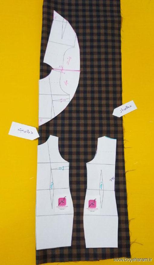 دوخت لباس حریر مجلسی زنانه,لباس مجلسی حریر زنانه,آموزش دوخت پیراهن مجلسی زنانه
