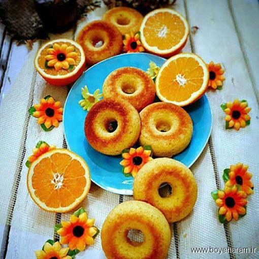 طرز تهیه دونات پرتقالی,آموزش طرزتهیه دونات پرتقالی,درست کردن دونات پرتقالی