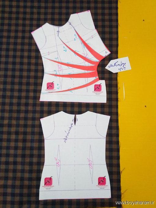 دوخت لباس زنانه,آموزش تصویری دوخت لباس زنانه,آموزش دوخت لباس مجلسی زنانه