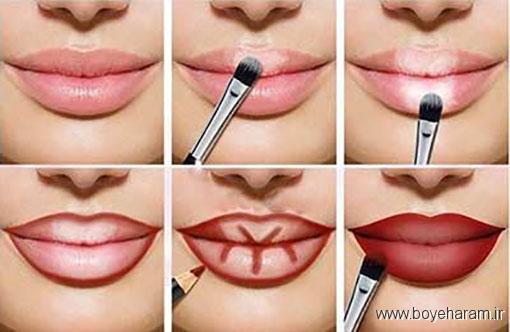 آموزش آرایش صورت,آموزش کانتورینگ لب,آموزش ترفندهای کانتورینگ لب