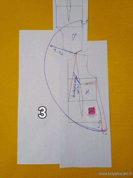 آموزش دوخت پانچ,آموزش کشیدن الگو پانچ,آموزش دوخت پانچ مجلسی