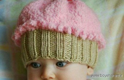 آموزش بافت کلاه بچگانه,آموزش بافت کلاه بستنی,آموزش بافت کلاه دخترانه,