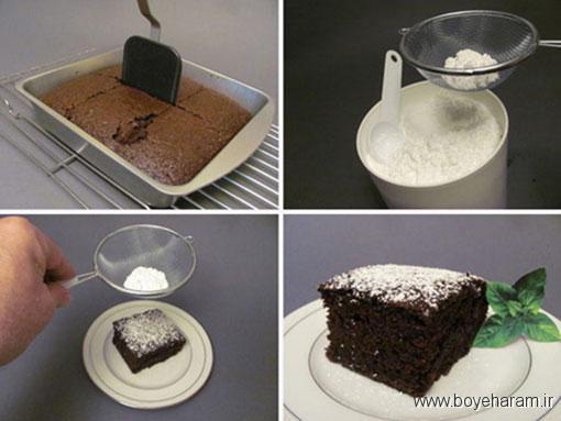 آموزش درست کردن کیک شکلاتی بدون شیر و تخم مرغ,طرز تهیه کیک شکلاتی بدون شیر و تخم مرغ
