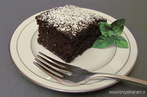 آموزش طرزتهیه کیک شکلاتی بدون شیر و تخم مرغ,درست کردن کیک شکلاتی بدون شیر و تخم مرغ,کیک ویژه شب یلدا