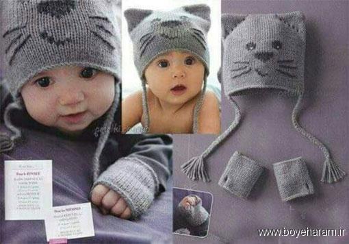 آموزش بافت کلاه عروسکی,بافت کلاه گربه ای,بافت کلاه عروسکی,بافت کلاف فانتزی بچگانه