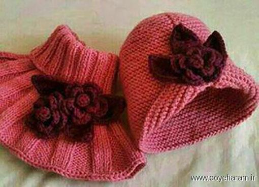 موزش بافت کلاه فانتزی,بافت کلاه طرح گل لاله,بافت کلاه فانتزی زنانه,بافت کلاه فانتزی دخترانه