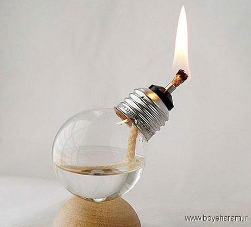 ساخت کاردستی از چوب بستنی های به دردنخور,ساخت کاردستی از لامپ های به دردنخور