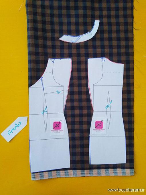 آموزش مدل جدید لباس آستین سرخود مجلسی,مدل شیک لباس آستین سرخود زنانه,دوخت لباس مجلسی