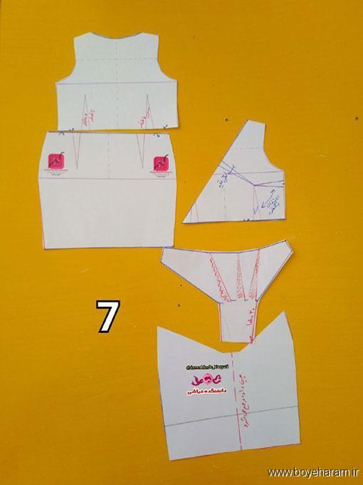 آموزش کشیدن الگو لباس مجلسی,دوخت لباس مجلسی شیک,دوخت مدل جدید لباس مجلسی