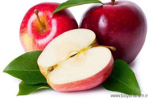 باز کردن رگ قلب , خواص سیب