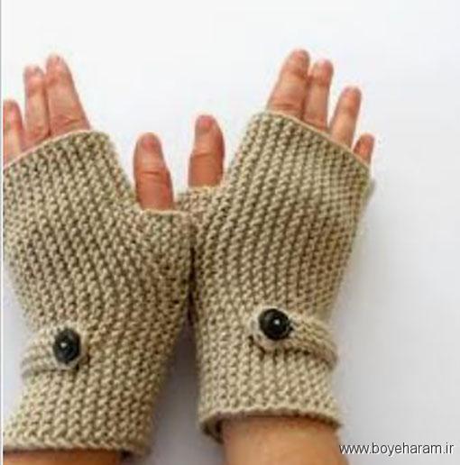 مدل دستکش بدون انگشت زنانه بافت عرضی,آموزش بافت مدل جدید دستکش بدون انگشت زنانه بافت عرضی