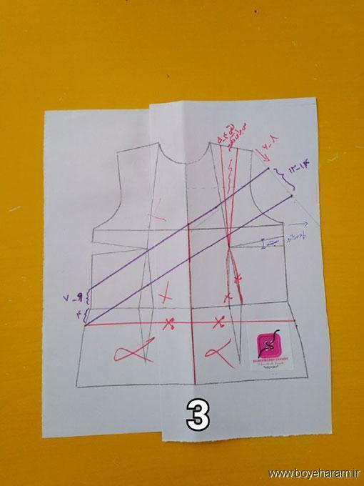 آموزش مدل جدید لباس مجلسی,مدل شیک لباس یقه باز زنانه,دوخت لباس مجلسی