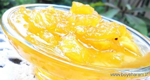 طرز تهیه مربای آناناس,آموزش طرزتهیه مربای آناناس,درست کردن مربای آناناس, مربای آناناس
