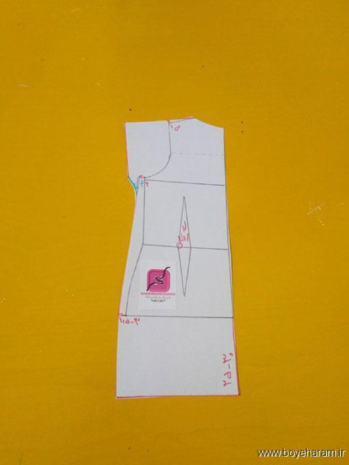آموزش کشیدن الگو تونیک بارداری,دوخت تونیک بارداری,دوخت مدل جدید تونیک بارداری