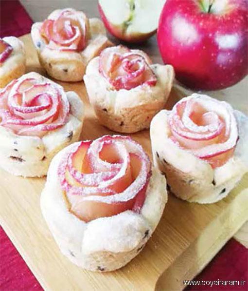 طرز تهیه دسر رزت سیب,آموزش طرزتهیه دسر رزت سیب,درست کردن دسر رزت سیب