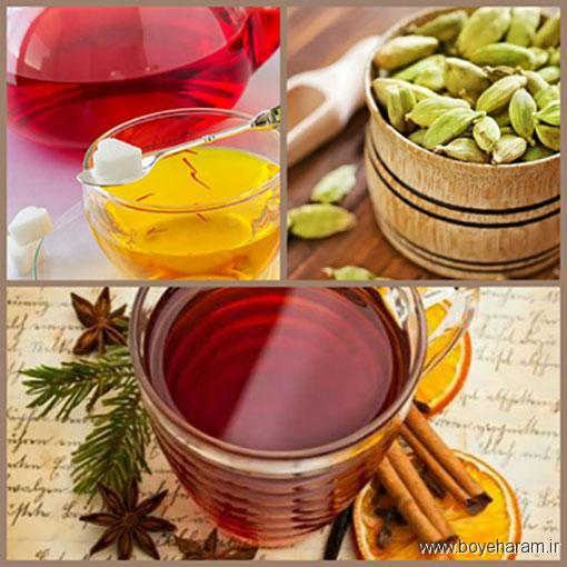 روش درست چای هل و زغفران,آموزش روش درست کردن دمنوش هل دارچین