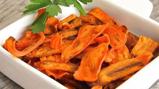 آموزش درست کردن چیپس هویج,طرز تهیه چیپس هویج,آموزش طرزتهیه چیپس هویج,درست کردن چیپس هویج