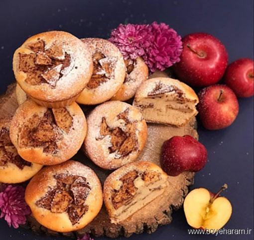 طرز تهیه کیک سیب,آموزش طرزتهیه کیک سیب,درست کردن کیک سیب
