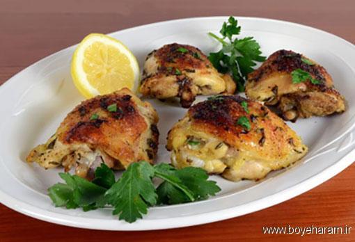 دستور درست کردن مرغ طعم دار شده با سس کاری,آموزش طرز تهیه ی مرغ طعم دار شده با سس کاری
