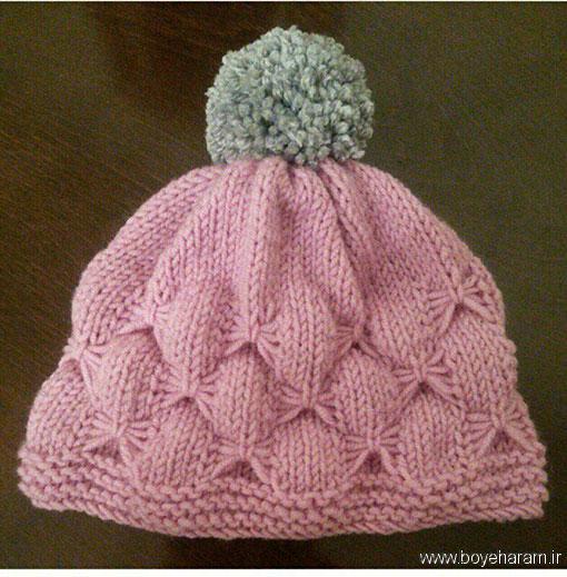 آموزش بافت کلاه دخترانه (دومیل),مدل کلاه دخترانه (دومیل),آموزش بافت مدل جدید کلاه دخترانه (دومیل)