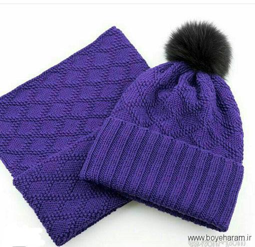 آموزش بافت شال و کلاه به طرح لوزی,مدل جدید شال و کلاه به طرح لوزی,آموزش بافت مدل جدید شال و کلاه به طرح لوزی