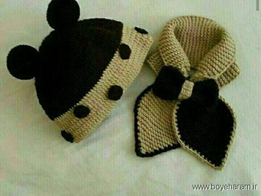 مدل جدید کلاه شالگردن پسرانه (دومیل),آموزش بافت مدل جدید کلاه شالگردن پسرانه (دومیل)