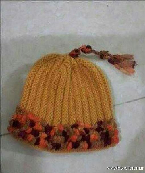مدل کلاه بچگانه (دومیل),آموزش بافت مدل جدید کلاه بچگانه (دومیل)