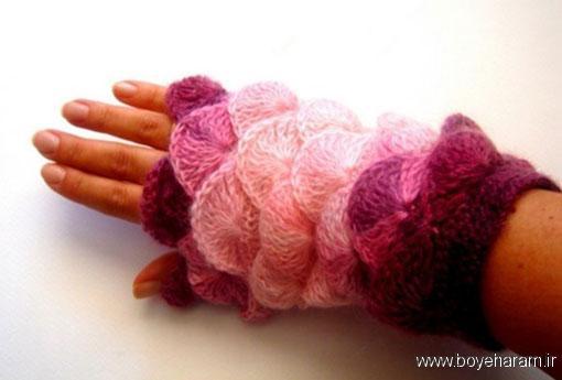 مدل جدید ساق دست بافتنی,بروزترین طرح های دستکش بدون انگشت,مدل دستکش دخترانه,مدل های جدید ساق دست دخترانه