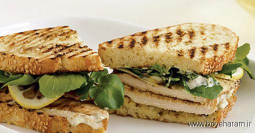 درست کردن ساندویچ گریل,دستور درست کردن ساندویچ گریل,آموزش طرز تهیه ی ساندویچ گریل