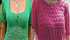 تاپ وبلوز زنانه یقه خشتی (قلاب بافی و دومیل)