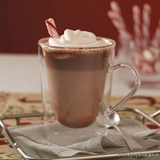 طرز تهیه شکلات گرم وانیلی,آموزش طرزتهیه شکلات گرم وانیلی,درست کردن شکلات گرم وانیلی