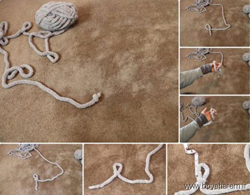 آموزش بافت پتو زمستانی با دست,نحوه بافت پتو زمستانی با دست,بافت پتو زمستانی با دست