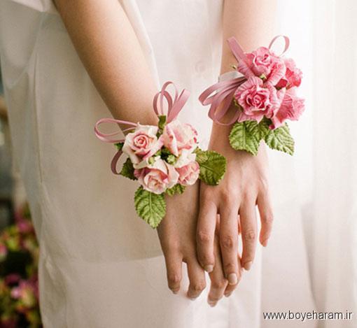 جدیدترین مدل های دسته گل دور مچ عروس,مدل های جدید دسته گل دور مچ عروس,قشنگ ترین مدل های دسته گل دور مچ عروس