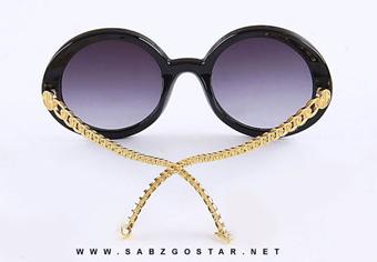 عینک شانل,مدل عینک شانل,عینک آفتابی زنانه دسته زنجیری