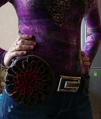 آموزش خیاطی چرمی,دوخت کیف کمری,ساخت کیف کمری,ساخت کیف زنانه,ساخت کیف چرم زنانه