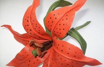 آموزش گلسازی,آموزش گل سازی,ساخت گل,ساخت گل چرم