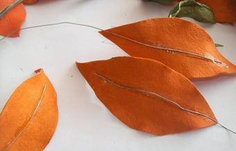 ساخت کاردستی گل با چرم,آموزش گل های چرمی