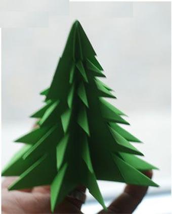 آموزش ساخت انواع درخت,آموزش ساخت درخت کریسمس,آموزش ساخت درخت مقوایی,درخت مقوایی