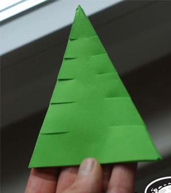 ساخت کاردستی کاغذی,ساخت کاردستی با کاغذ,ساخت درخت کاج,ساخت درخت با کاغذ,آموزش ساخت درخت کاج